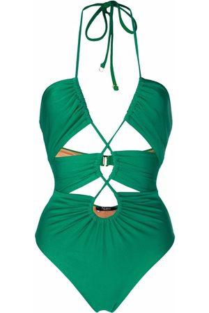 Noire Swimwear Mujer Trajes de baño - Traje de baño fruncido con aberturas