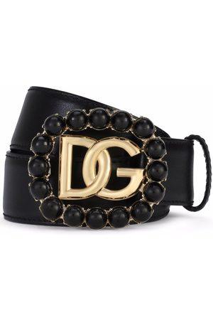 Dolce & Gabbana Mujer Cinturones - Cinturón con hebilla con logo DG