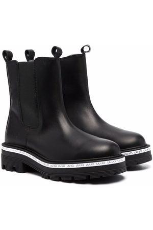 Liu Jo Niña Botines - Tailor logo-trim leather Chelsea boots