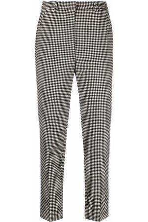 Incotex Pantalones de vestir con motivo de cuadros gingham