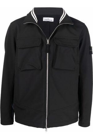 Stone Island Compass patch zip-up shirt jacket