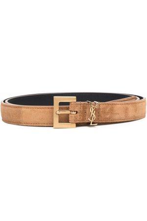 Saint Laurent Mujer Cinturones - Cinturón con placa YSL