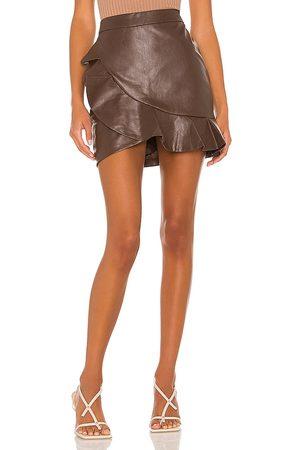 MAJORELLE Minifalda poseidon en color chocolate talla L en - Chocolate. Talla L (también en XXS, XS, S, M, XL).