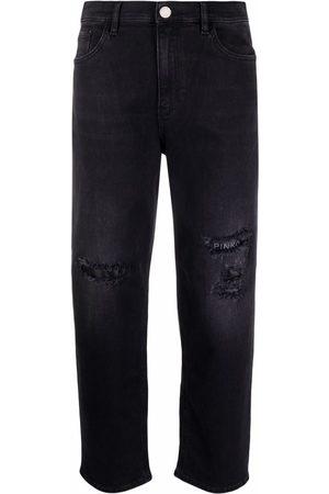 Pinko Mujer Rectos - Jeans rectos con efecto envejecido