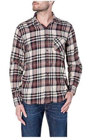 Replay Hombre Camisas - Camisa M4053t.000.52434 L Light Brown / Brown / Black