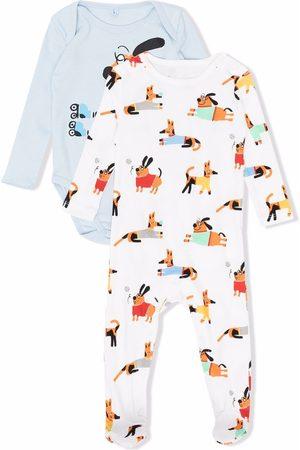Stella McCartney Mamelucos - Dog-print babygrow set