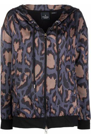 Pinko Mujer Bomber - Camouflage pattern hooded jacket