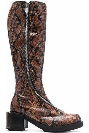 Kennel Schmenger Gmbh Mujer Botas altas - Botas altas con efecto de piel de serpiente