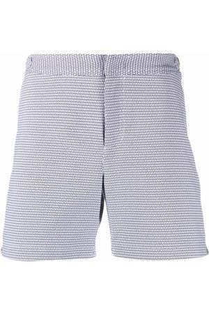 Orlebar Brown Hombre Shorts - Shorts de playa con motivo en jacquard