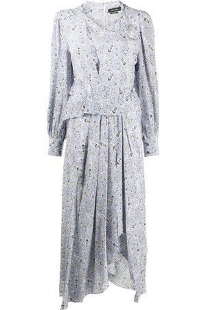 Isabel Marant Mujer Midi - Vestido midi de seda con estampado de cachemira