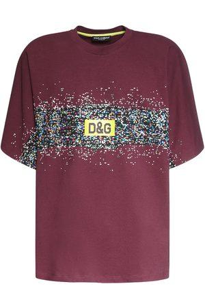 Dolce & Gabbana Hombre Playeras - Camiseta De Algodón Con Logo Estampado