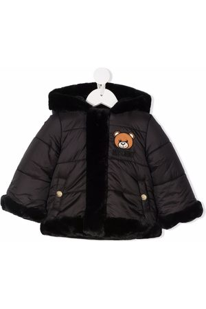 Moschino Abrigos de lana - Padded faux fur-trimmed coat