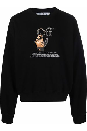 OFF-WHITE Hombre Sudaderas - Logo-print long-sleeve sweatshirt