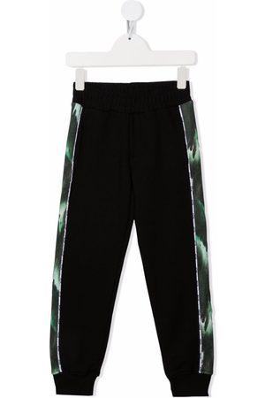 Msgm Niño Pantalones - Side printed stripe track pants