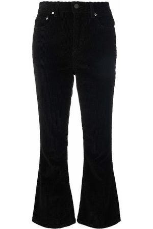 Ganni Mujer Acampanados - Ribbed flared trousers