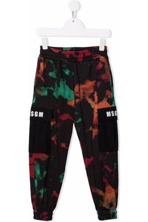 Msgm Niño Pantalones - Tie dye print track pants