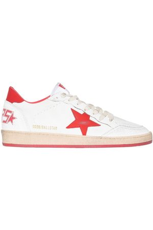 Golden Goose Hombre Tenis - BALL STAR NAPPA WHT RED SNK