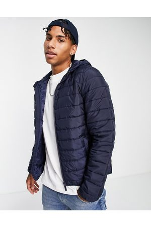New Look Hooded puffer in navy