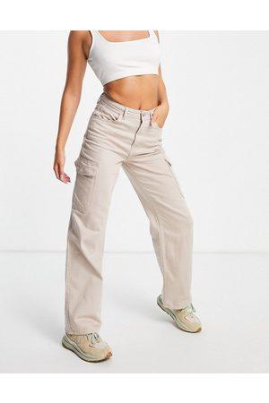 New Look Cargo pocket jean in stone