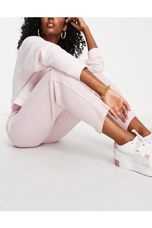 Dorina Waffle recycled textured straight leg jogger in pink