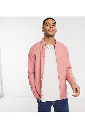 ASOS Slim fit oxford shirt in pink