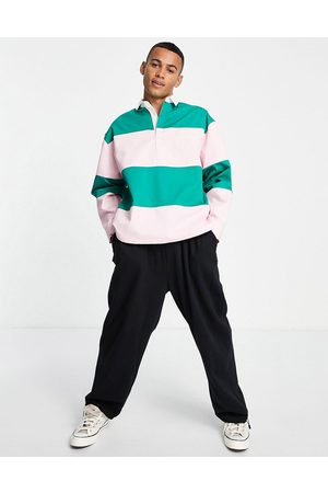 ASOS ASOS Daysocial boxy oversized rugby shirt in colour block