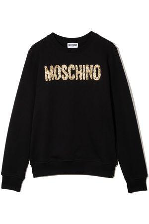 Moschino Niña Con capucha - Sudadera con logo estampado