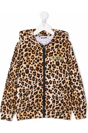 Moschino Hoodie con estampado de leopardo