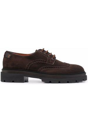 santoni Chelsea lace-up derby shoes