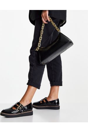 River Island Mary jane style shoe in black
