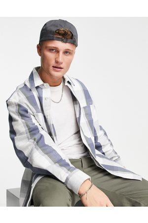 River Island Long sleeve check jersey shirt in ecru