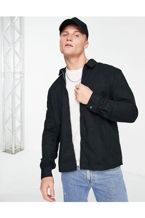 New Look Hombre Abrigos - Zip through overshirt in black