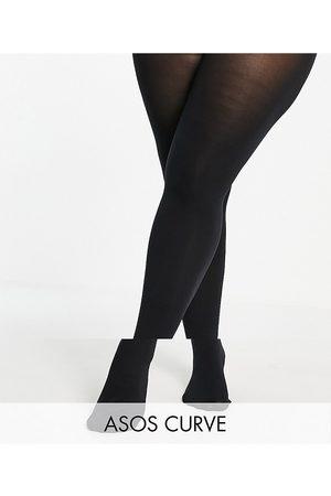 ASOS Mujer Medias - ASOS DESIGN Curve 2 pack 90 denier super stretch recycled blend tights in black