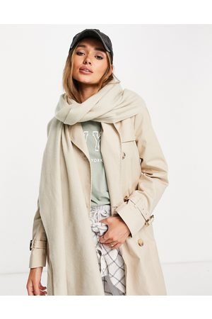 ASOS Recycled blend scarf with raw edge in light camel