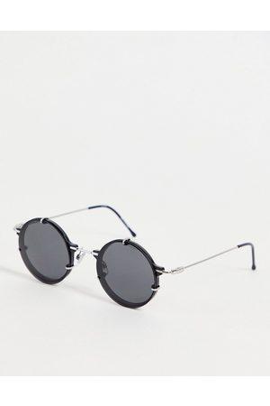 Spitfire Lentes de sol - Ift unisex round sunglasses in black with black mirror lens