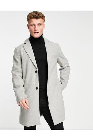 New Look Overcoat in light grey