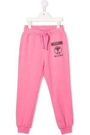 Moschino Niño Pantalones - Logo-print track pants