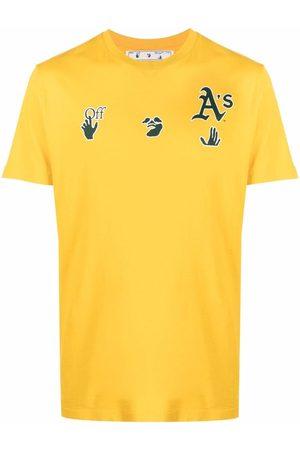 OFF-WHITE Hombre Playeras - X MBL Oakland Athletics logo-print T-shirt