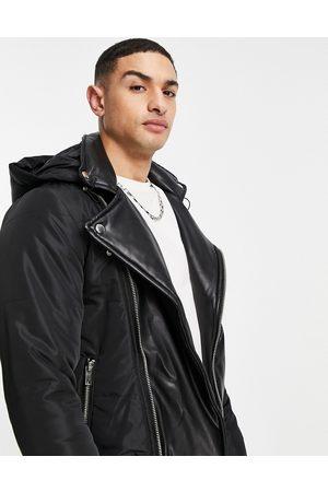 Bolongaro Kyro faux leather trim puffer jacket