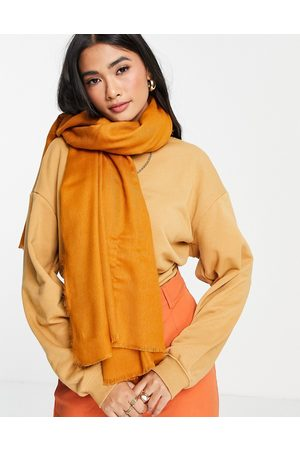 ASOS New recycled square lightweight scarf in mustard