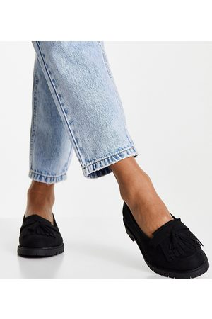 New Look Sudette chunky loafer in black