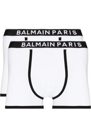 Balmain Hombre Calcetines - Set de dos bóxeres con logo en la pretina
