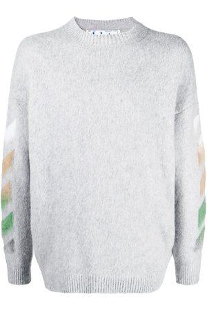 OFF-WHITE Hombre Suéteres - Suéter tejido con logo estampado
