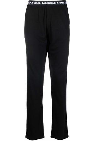 Karl Lagerfeld Pantalones de pijama con logo en la pretina