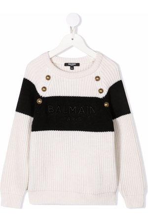 Balmain Suéter con logo bordado