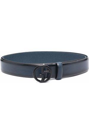 Armani Cinturón con placa del logo