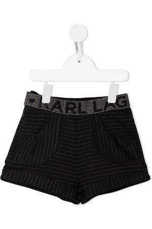 Karl Lagerfeld Shorts con estampado de rayas diplomáticas