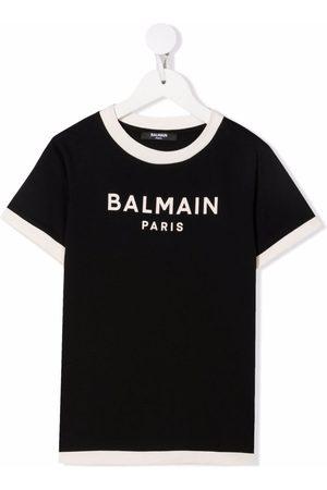 Balmain Playera con letras del logo