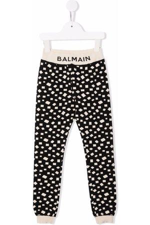 Balmain Pantalones de chándal con estampado geométrico