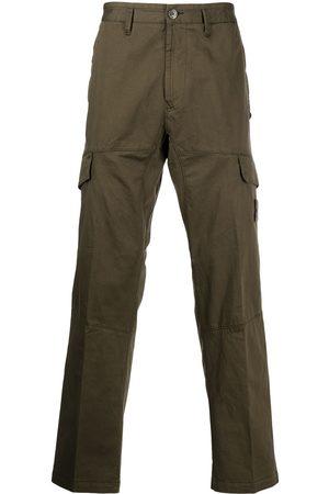 Stone Island Pantalones cargo con parche de brújula
